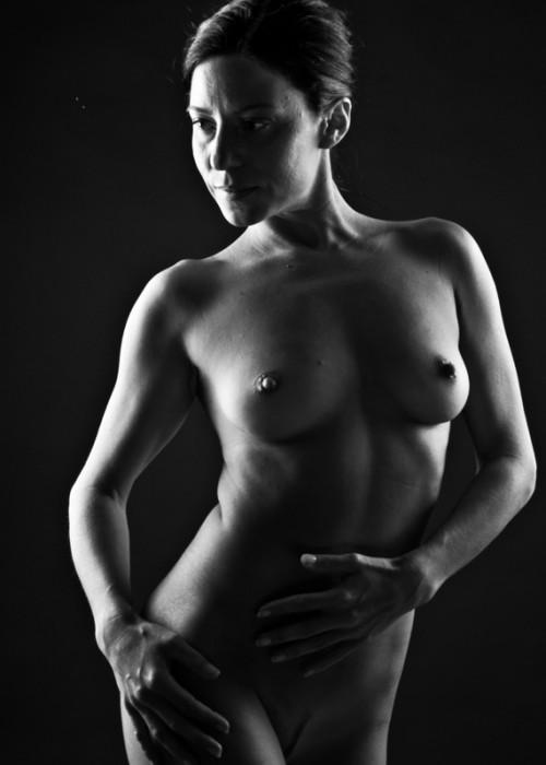 Alba Cabrera. Iluminacion de desnudo.