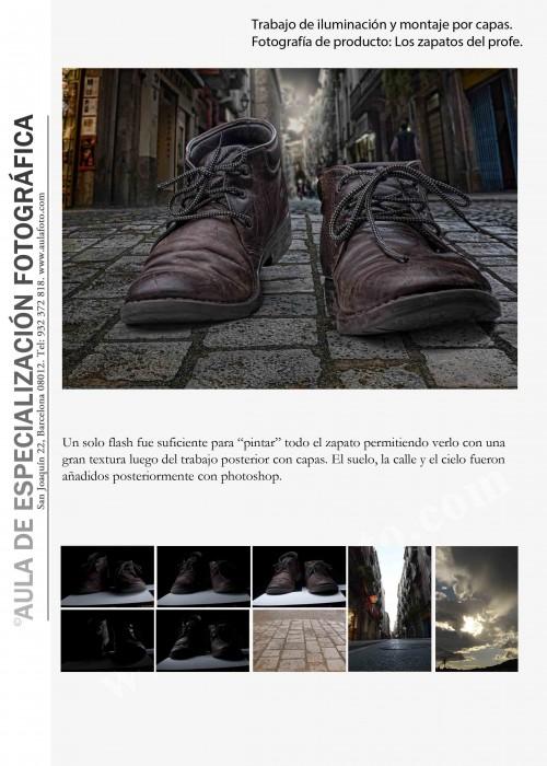 Fotografia de producto. Los zapatos del profe.
