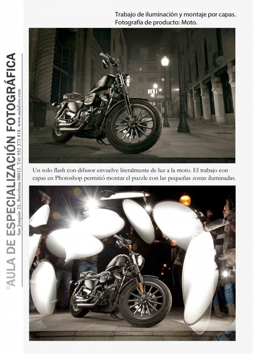 Fotografia de producto. Moto.