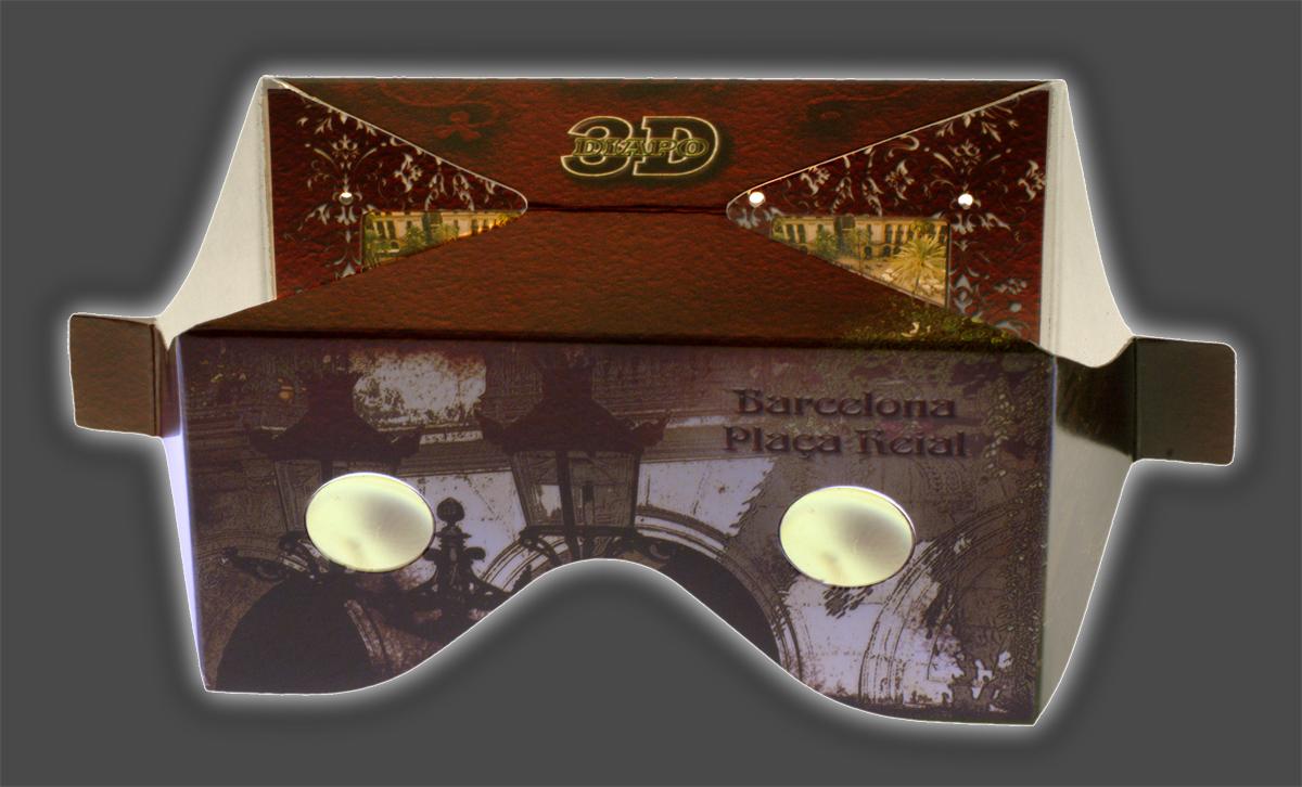 Obsequio de un visor 3D a todos los asistentes a la inauguración.