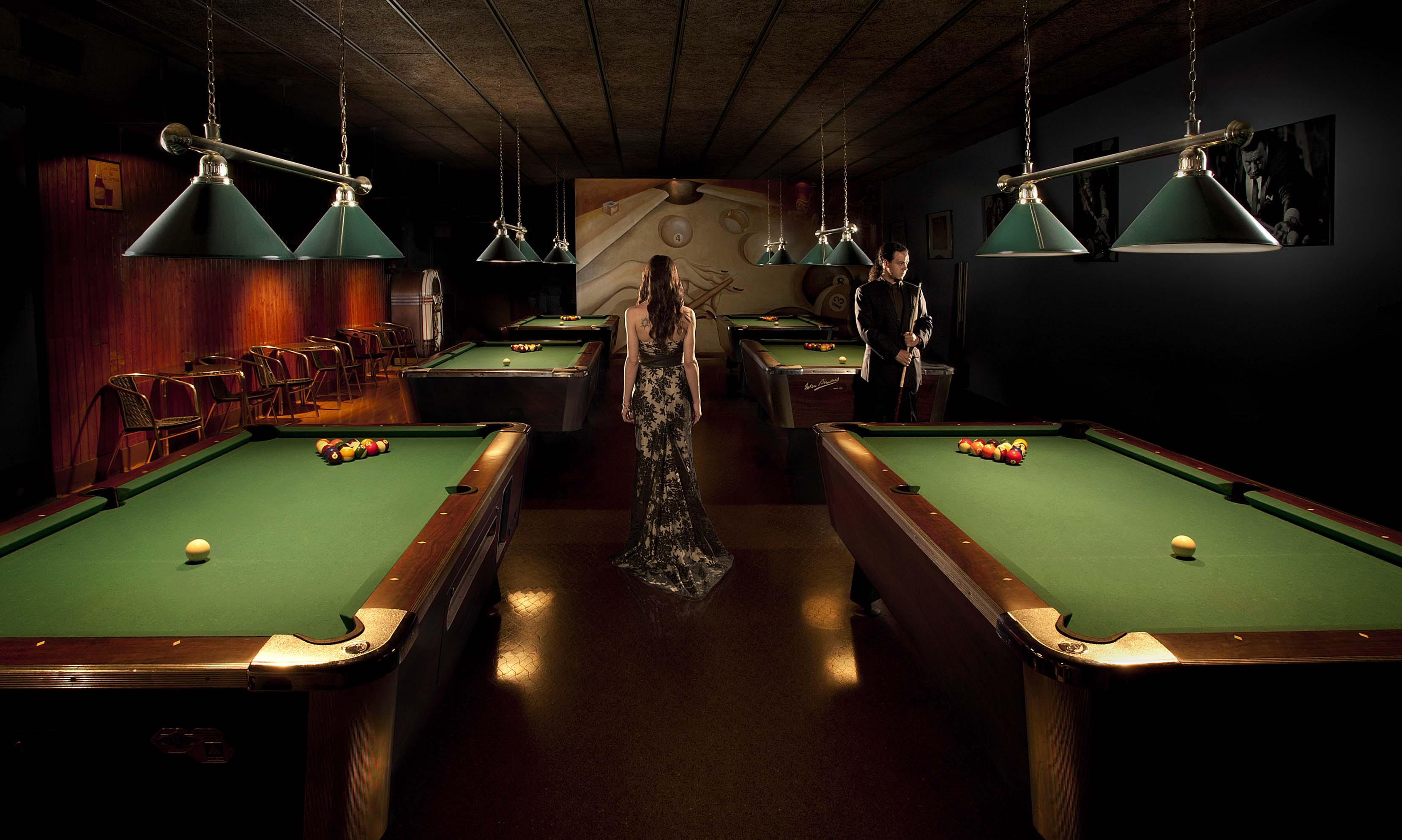 Nuria y Luciano en el Bar Billar HDP.