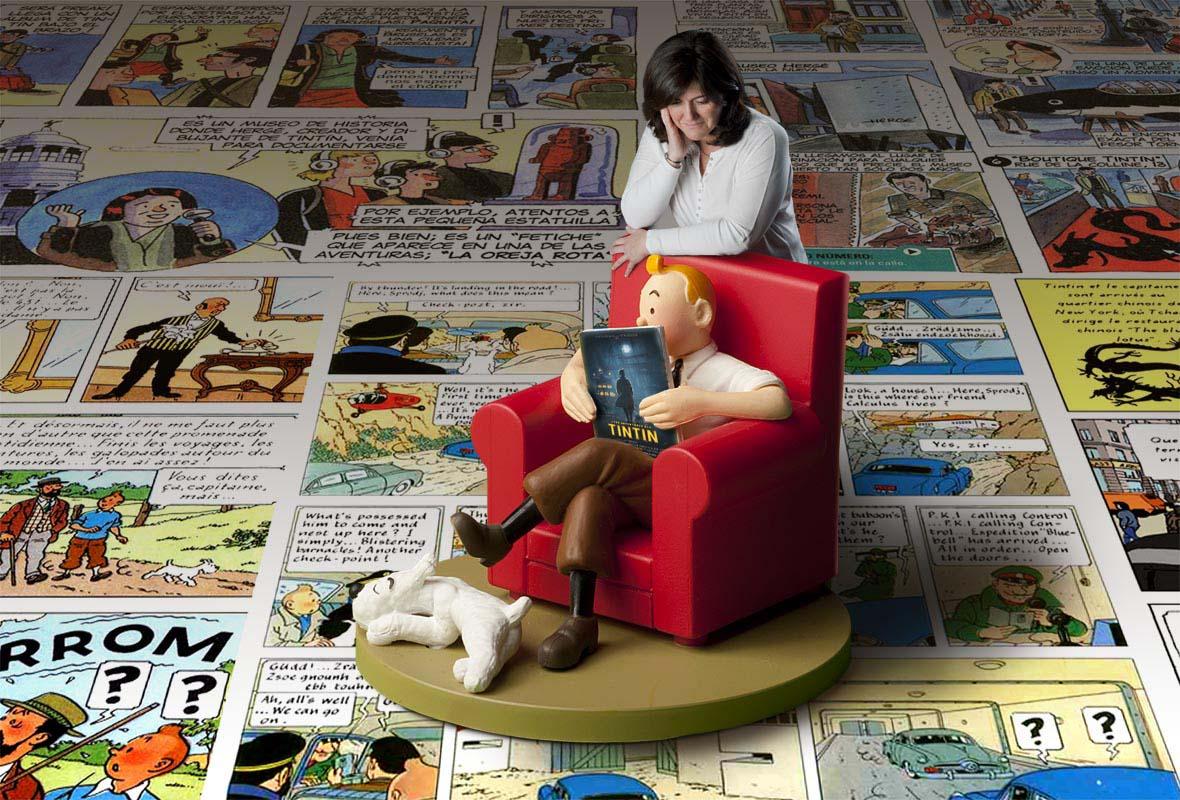 Cristina con su ídolo de la infancia.