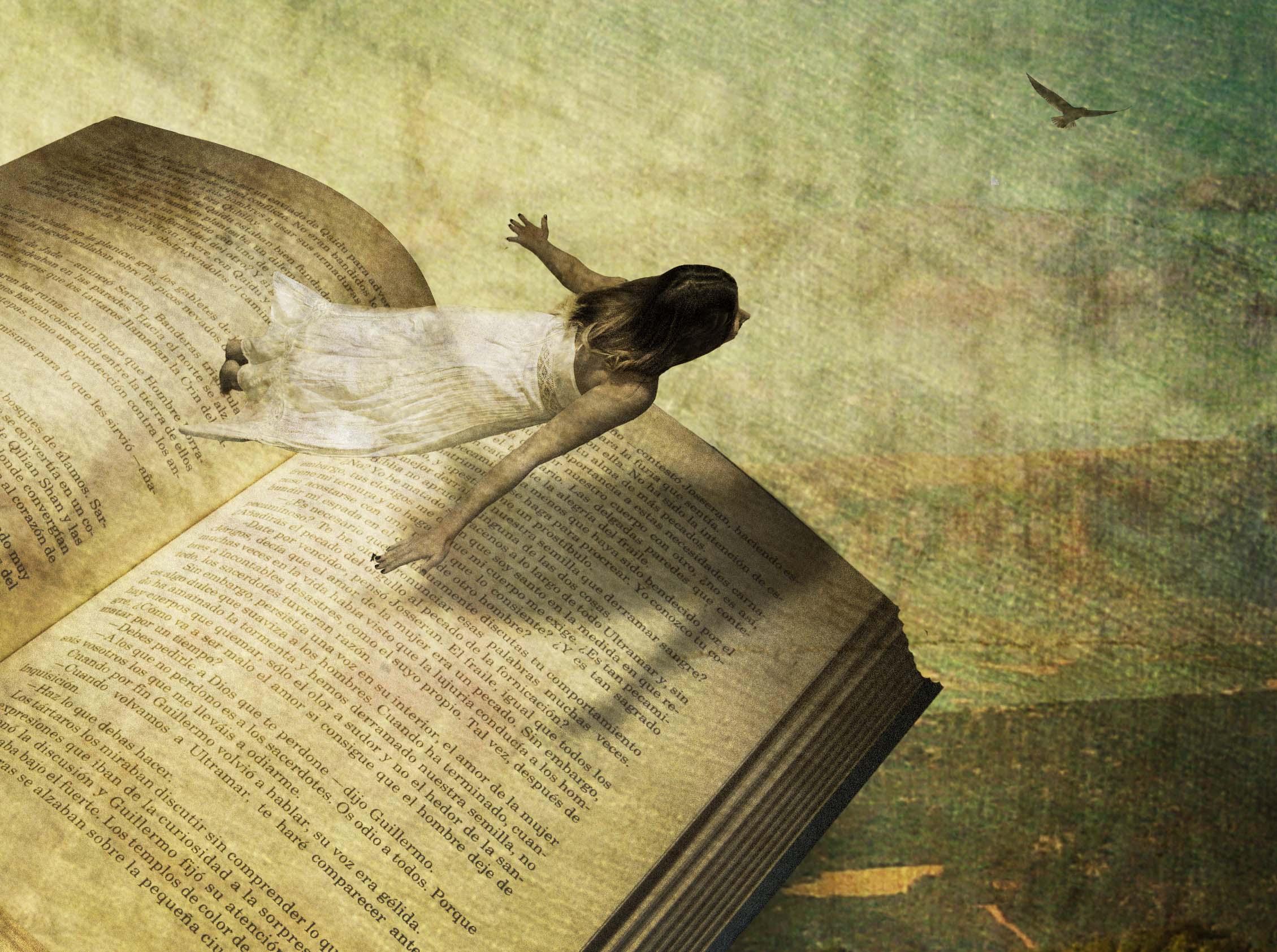 El vuelo de Olga con la literatura.