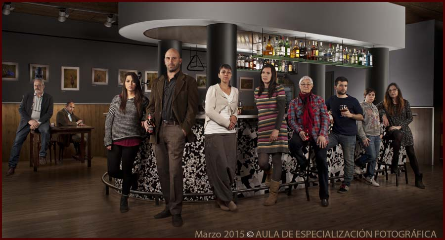 fotomontajes Grupo de la noche del curso anual 2014-2015 en HDP.
