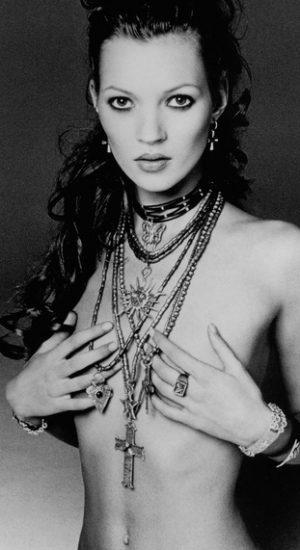 Kate Moss by Francesco Scavullo.