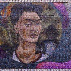Fotomosaico de Frida Kahlo.