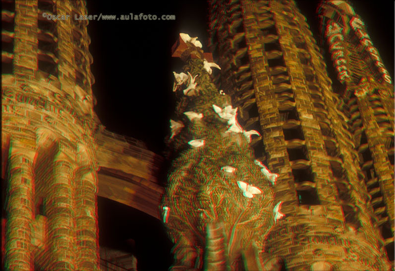 España en 3D. Sagrada Familia.