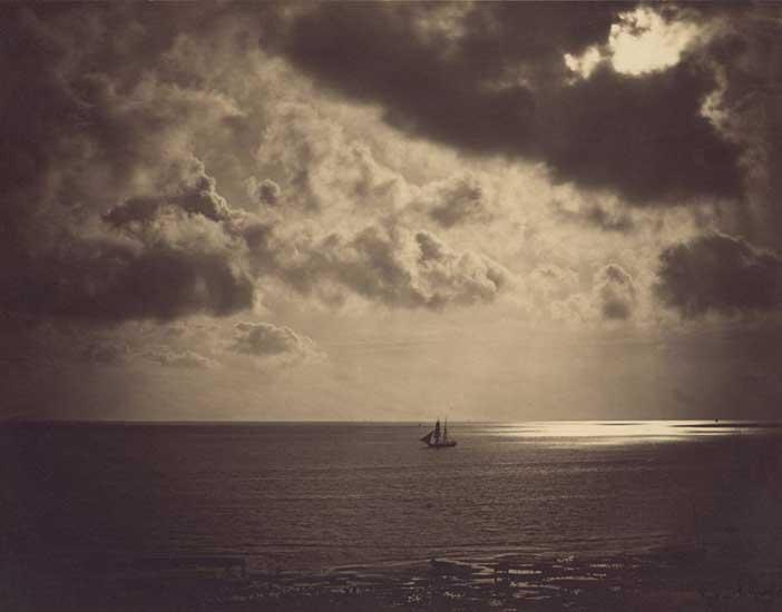 © Gustave Le Gray , 18 56, Brig en el claro de luna, Francia
