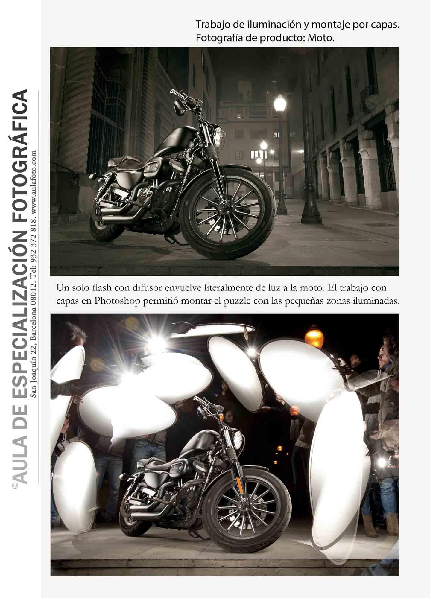 Fotografía de producto. Moto.
