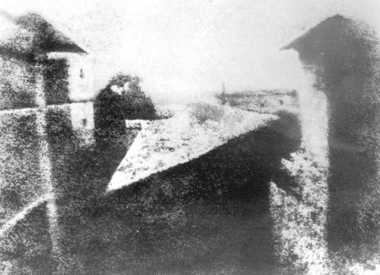 Nicephore Niepce 1826. Inventor de la fotografía.