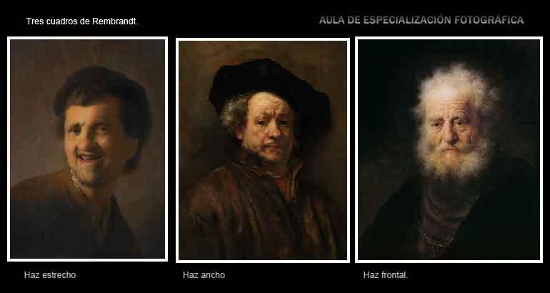 """Probablemente, si has leído algún artículo sobre iluminación, te sonará lo del """"estilo Rembrandt"""". A veces hablando del haz estrecho, a veces del ancho o de las tres orientaciones al mismo tiempo. El genial artista holandés, igual que CASI TODOS los pintores, utilizaba las tres."""