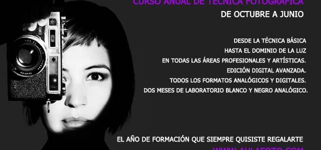 CURSO ANUAL DE TÉCNICA FOTOGRÁFICA.