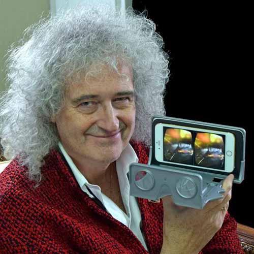 Brian May, guitarrista de Queen, astrofísico y gran aficionado al 3D, creó un artilugio para popularizar la imagen tridimensional en todo tipo de móviles. Una iniciativa excelente que ojalá tenga éxito pero que por más que aumenten las resoluciones de las pantallas todavía están a años luz de conseguir la calidad de una diapositiva original.