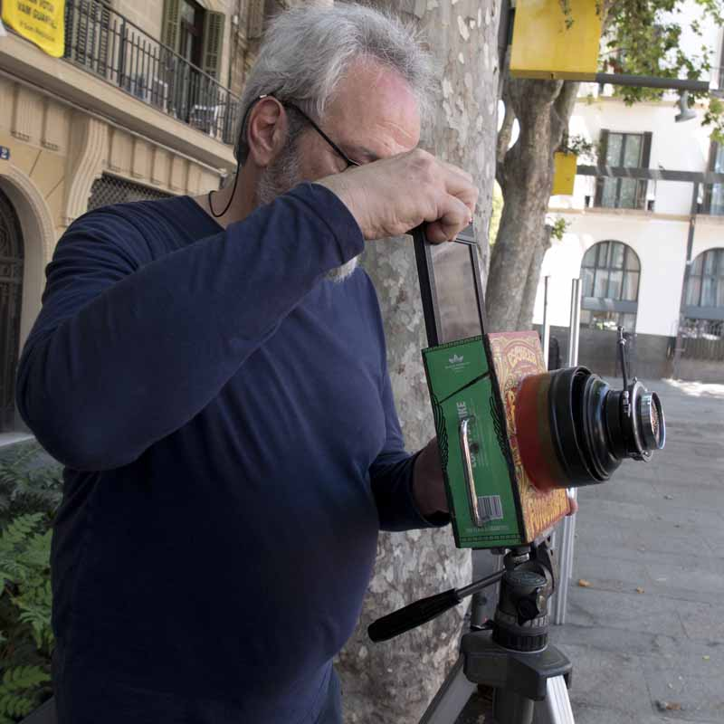 fotografía con cámara de lata