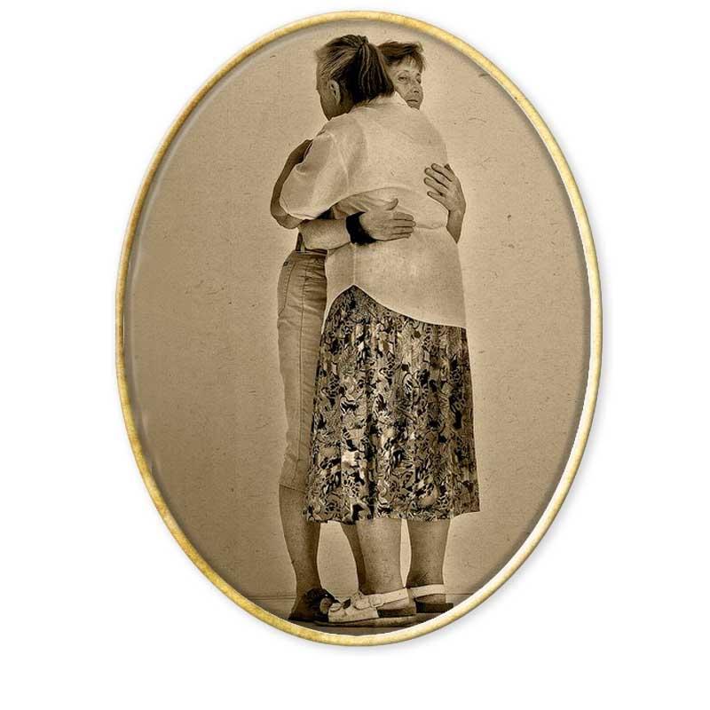El Abrazo. Autor Norto Méndez