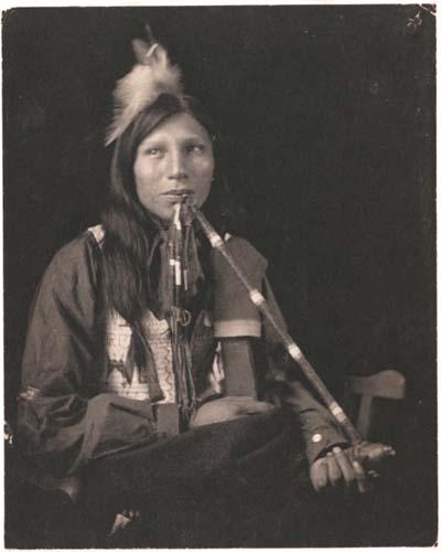 gertrude_kasebier_52 Philip Standing Soldier, Sioux Indian, by Gertrude Kasebier.