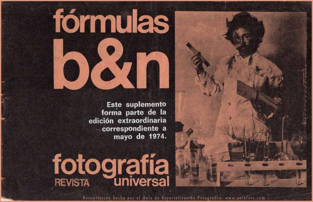 fórmulas de laboratorio Blanco y Negro