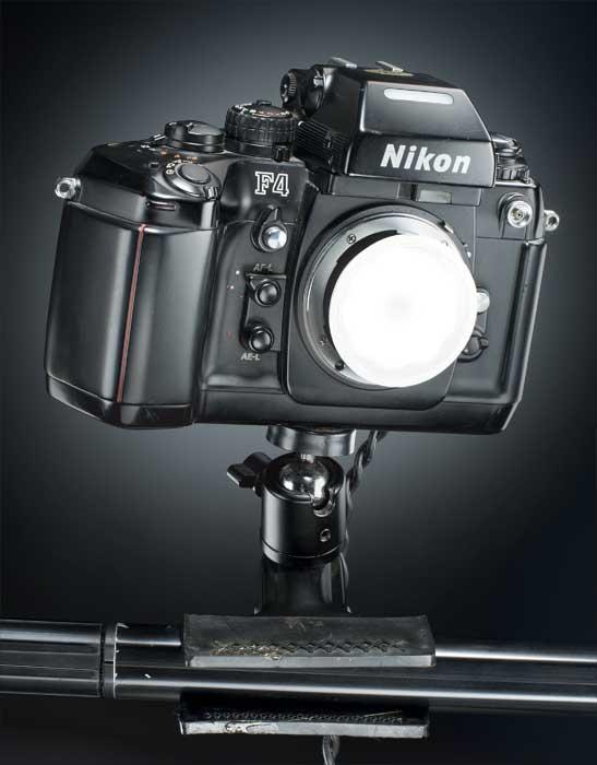 cómo fabricar una lámpara con una cámara fotográfica